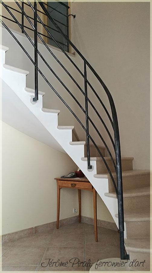 Rampe D Escalier En Fer Forge Style Contemporain